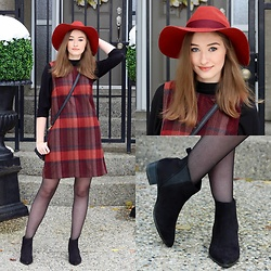 Taylor Doucette - H&M Rusty Wool Hat, Old Navy Pointed Toe Suede Boots - Times Like These- A&J