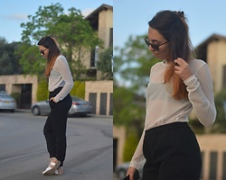 Maya Levy - Forever 21 Top, Forever 21 Pants, Ray Ban Sunglass, Mpr Sa Sandals - Join me on IG @mayathebea