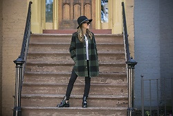 Lauren Recchia - Rag And Bone Fedora, Bb Dakota Shirt Jacket, Balenciaga Boots - A Plaid Habit