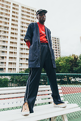 Marc-Henri Ngandu - Boy London 5 Panels, Umbro Crewneck, Drole De Monsieur Court Kimono, Jogging, Axel Arigato Clean 90 Zip - Umback