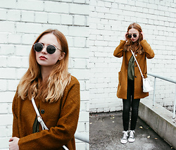 Kristina Magdalina - Dresslily Coat, Monki Blouse, Zaful Bag, Converse Shoes - AUTUMN PALETTE.