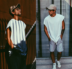 Jose Manuel Hernández - Gregory (Asos) Cap, Asos Long T Shirt, Mó Glasses, Bershka Wide Pants, Adidas Superstar Sneakers - CALL IT UNDERGROUND