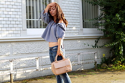 Kostantina Kaptebileva - Zara Off Shoulder Blouse, Zara City Bag - Last days of summer