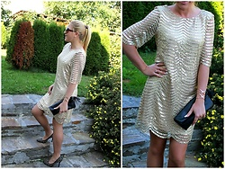 Gosia Borychowska - Zaful Dress, Zaful Bracelet - Golden dress