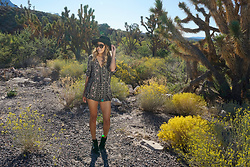 Meghan K. - Necessary Clothing Romper, Asos Buckle Boots, Forever 21 Hat - Indian Summer
