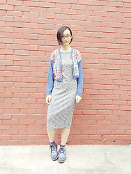 Ren Rong - Thrifted Cardigan, Cotton On Dress, Timberland Boots - Gentle Visuals