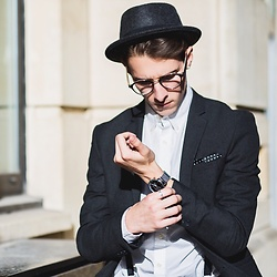 Chris Stringer - River Island Trilby, Asos Jacket, Redherring Watch, Tommy Hilfiger Shirt - Business