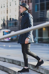 Chris Stringer - Redtape Brogues, Zara Denim, Asos Coat, River Island Trilby - Business