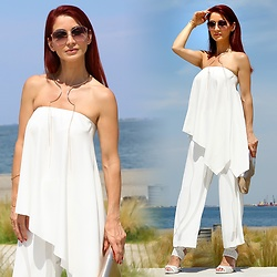 Redhead Illusion by Menia - Gucci Sunglasses, H&M Necklace - After a sudden loss, only white CanBringPeaceInOur heart...!