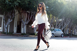 Jessi Malay - Revolve Jessica Alba Trimtone Ankle Jeans, Intermix Amur Off The Shoulder Blouse, Fendi Dotcom Leather Satchel, Perverse Catalina Sunglasses, Miu Black Suede Pumps - 3 Reasons Why These Are The Jeans You Need This Fall