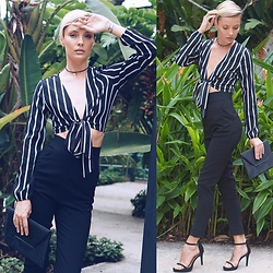Katya Shay - Missguided Blouse, Bcbg Bag - Classic Stripes Blouse Look