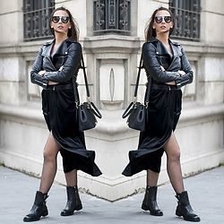 Manuella Lupascu - Zaful Velvet Dress, Prada Sunglasses, Dkny Boots, Dkny Bag - Trend Alert: Velvet Dress