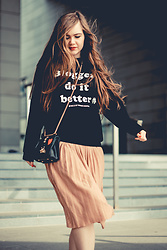 SIMPLY SOUL . - Mango Sweater, Dresslily Bag, Pull & Bear Plaeted Skirt - Bloggers Do It Better