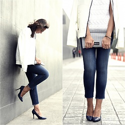 Silvia Rodriguez - Nautica Bomber, Liu Jo Jeans, Jaclin Madrid Shoes - Customized jeans