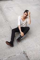 Phil Valles - Uniqlo Pants, Quero Boots, David Yurman Bracelet, Daniel Wellington Watch - Vintage Threads