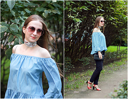 Katerina F - Zaful Graceful Off The Shoulder Ruffled Blouse - Off the Shoulder | Off the Hook