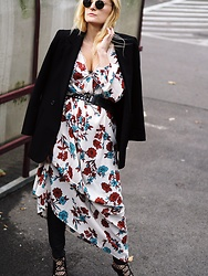 Laenoky - Glamorous Dress, Topshop Blazer, Asos Socks, Topshop Heels - FLOWERS IN AUTUMN