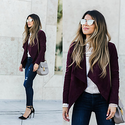 Pam Hetlinger - Bb Dakota Suede Jacket - Burgundy Suede Jacket