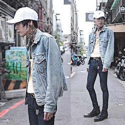 IVAN Chang - Levi's® Vintage Jacket, Asos Jeans, Asos Boot, Nike Hat - 211016 TODAY STYLE