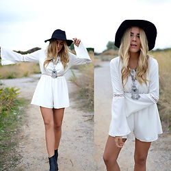 Cris M. - Missguided Playsuit - Catch me in White