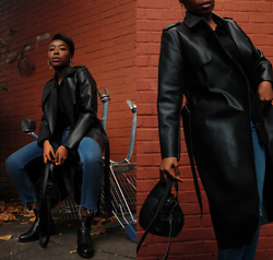 Remi Afolabi - Missguided Trench Coat, Urban Outfitters Jeans, Dune Chelsea Boots, Topshop Bag - The Trench Coat