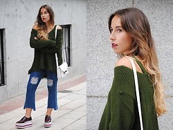 Claudia Villanueva - Sheinside Sweater, Primark Bag, Zaful Jeans, Mango Shoes - Back to Fall Colors