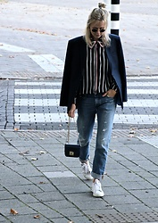 Jint B. - Stylewe Striped Blouse, Furla Bag - Boyish