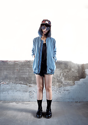 Jessiez C - Dr. Martens Shoes, Zara Jacket - _Blue