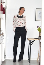 Isabella Pozzi - Zara Printed Shirt, & Other Stories Tailored Trousers - Tailored