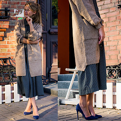 Tanya Shcerbakova - Romwe Cardigan, R.O.S.E. Dresses, Matiko Shoes, Romwe Glasses - AUTUMN AND CARDIGAN