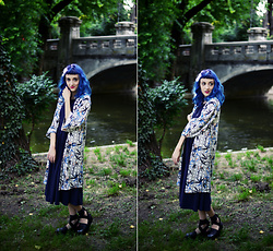 Evelyn Moon - Topshop Kimono, Papucei Japanese Style Flats - Memoirs of a Geisha
