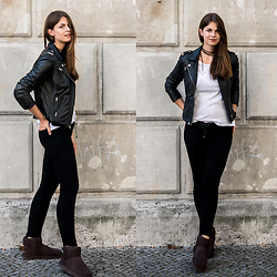 Jacky - Rich And Royal Leather Jacket, J Brand Jeans, Ugg Boots - Leather Jacket and UGG Boots