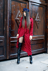 Kristina Zavarski - H&M Hat, Zaful Dress, Rachel Zoe Boots - Sexy & Casual in high boots