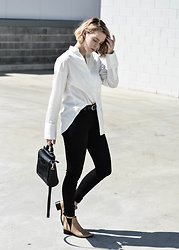 Madelene McGuinness - Friend Of Audrey Classic Button Up, Acne Studios Jeans, Acne Studios Jensen Boots - Whit Shirt