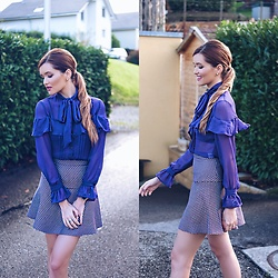 Cristina Gheiceanu - Vipme Blouse - Purple for green eyes