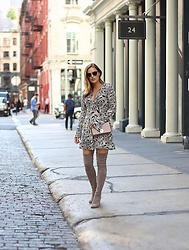 Charlotte Bridgeman - Stuart Weitzman Over The Knee Boots, For Love & Lemons Dress - Over The Knee