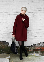 Sarah H -  - Sweater Dress & Lace-up Flats