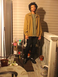Donovan Alexander - Rainforest Classic Jacket, Life Is Good Wanderer L/S Tee, Paul Smith Black Denim, At Ease Chunky Sole Loafer, Dont Ever Lmao Pirate Pinky Ring, Cant Be Bought Loving Aura - Heavenly Stain 2.0