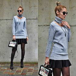 Ruxandra Ioana - Dressfo Sweater, Zaful Necklace, Jeffrey Campbell Boots - Say it