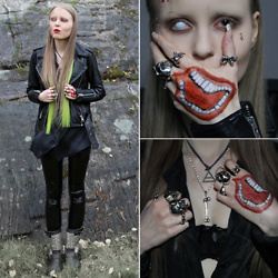 Linda Pedersen - Allsaints Leather Jacket, Black Milk Clothing Leggings, Ash Footwear Boots - The Joker Zombified