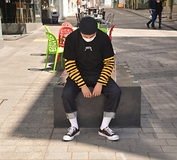 Miguel Valero - Fisherman Cap, Long Sleeve, Selvedge Denim, Converse Jack Purcell - Stripes