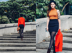 Gemini Tauberge - Kenzo Skirt, Rag & Bone Booties, Asos Top - 70s Sunday