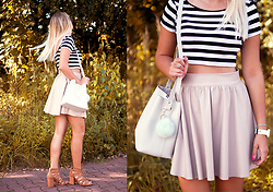 Dominika P. - Manzana Bag, Mosquito Skirt, Bershka Crop Top, Bershka Shoes - 108