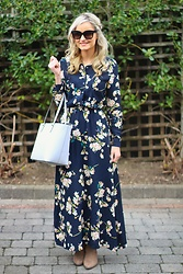 Martina Reynolds - Romwe Floral Maxi Dress - To the maxi
