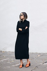 Elif Filyos - Cos Wool Dress, Mango Leather Heels - Turn It Around