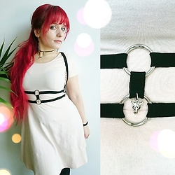 "Asu Rocks - Rabbit Heart Shop ""Hunter"" Harness, Forever 21 Blush Pink Dress - Innocent Hunter"