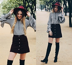 Marta M - Sheinside Top, Primark Skirt, Marypaz Boots - AUTUMN