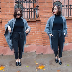 Adrianna - New Look Shoes, New Look Pants, New Look Blouse, Brylove Sunglasses - Poncho and the City