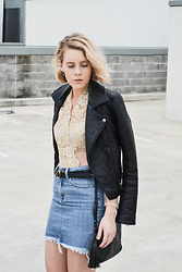 Madelene McGuinness - Topshop Leather Jacket - All that Glitters