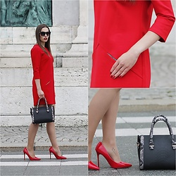 Virág Bogdándi - Red Dress - Red ♥